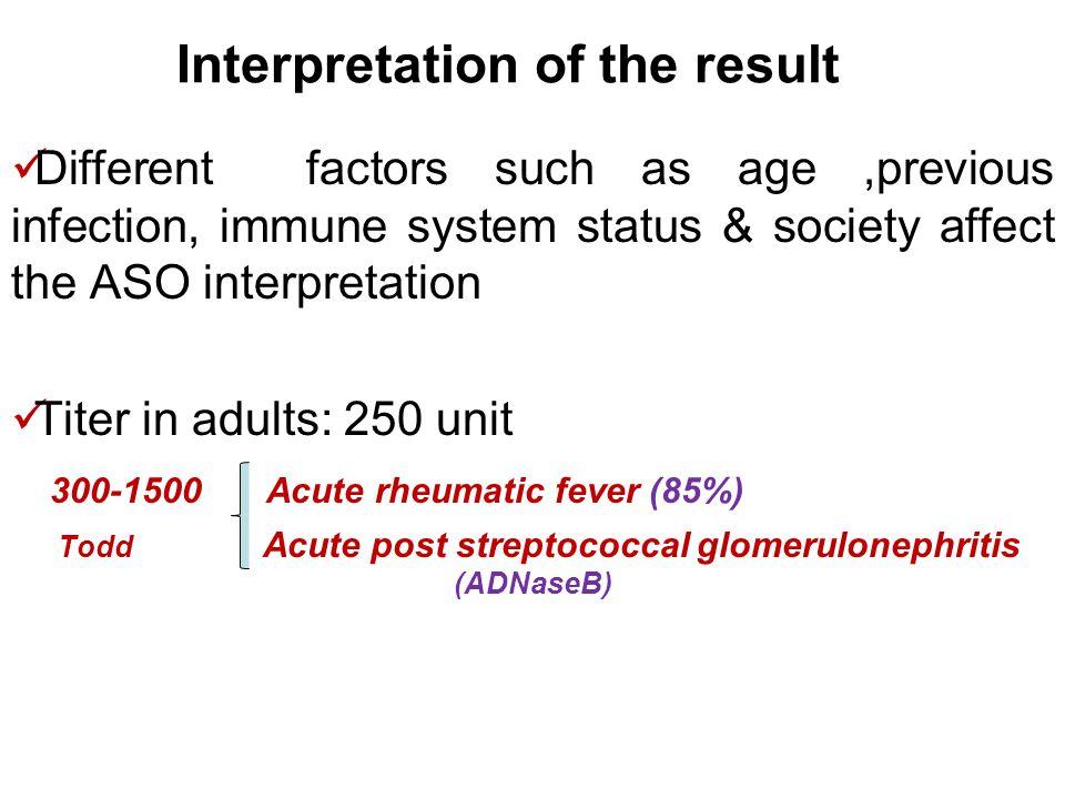 Interpretation of the result