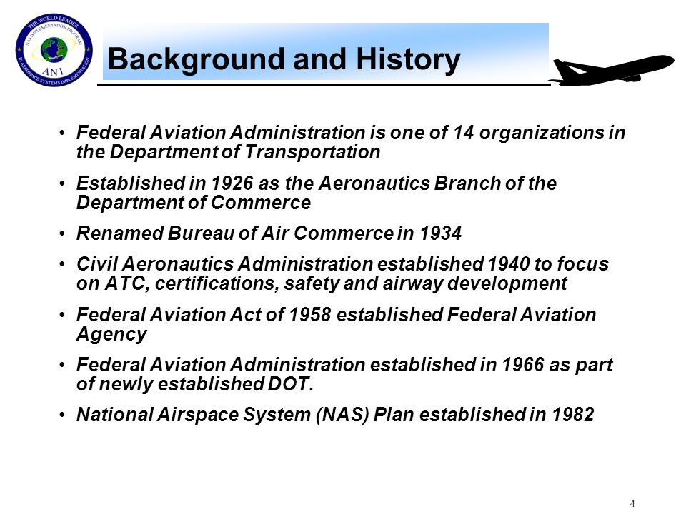 Terminology Major functions in the FAA begins with the letter A and some are pretty intuitive….. AOA.