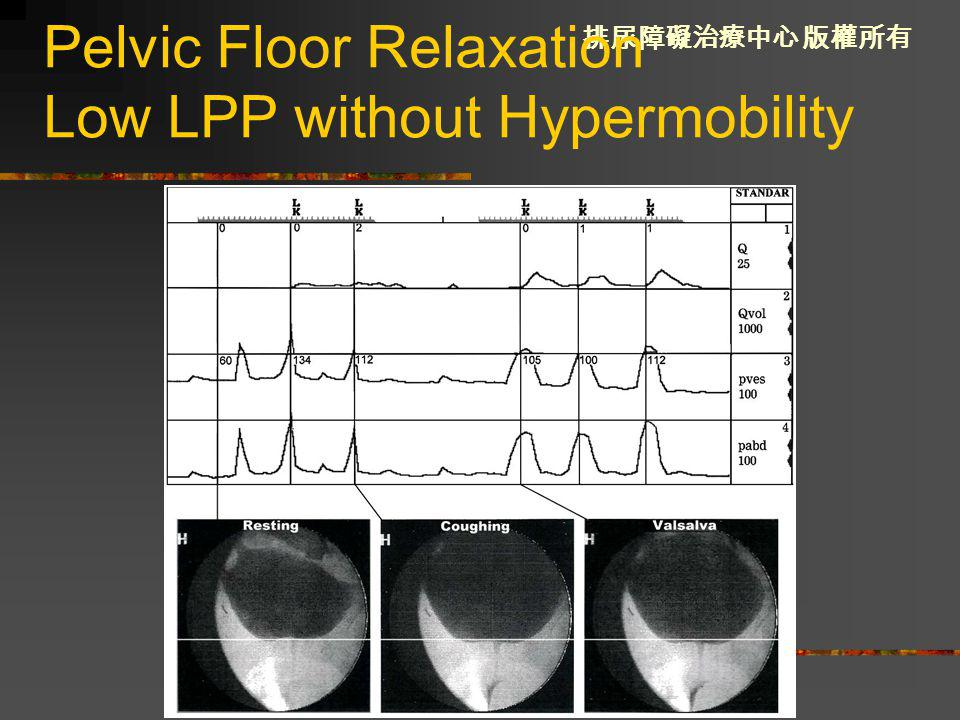 Pelvic Floor Relaxation Low LPP without Hypermobility