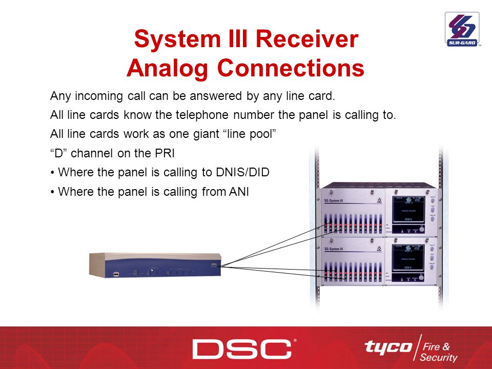 System III Receiver Analog Connections