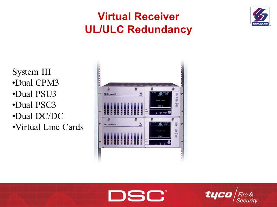 Virtual Receiver UL/ULC Redundancy