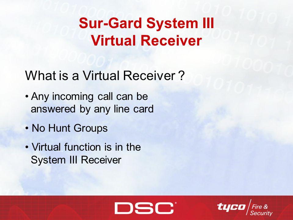 Sur-Gard System III Virtual Receiver