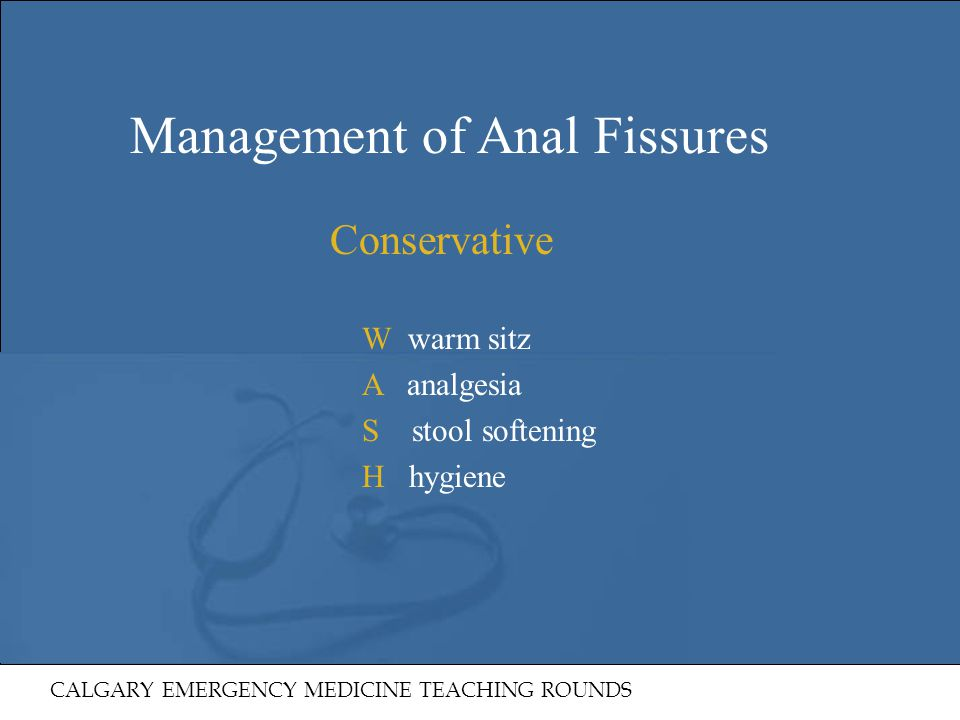 Management of Anal Fissures