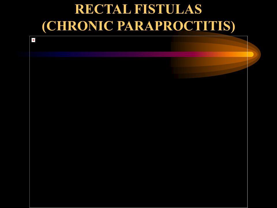 RECTAL FISTULAS (CHRONIC PARAPROCTITIS)
