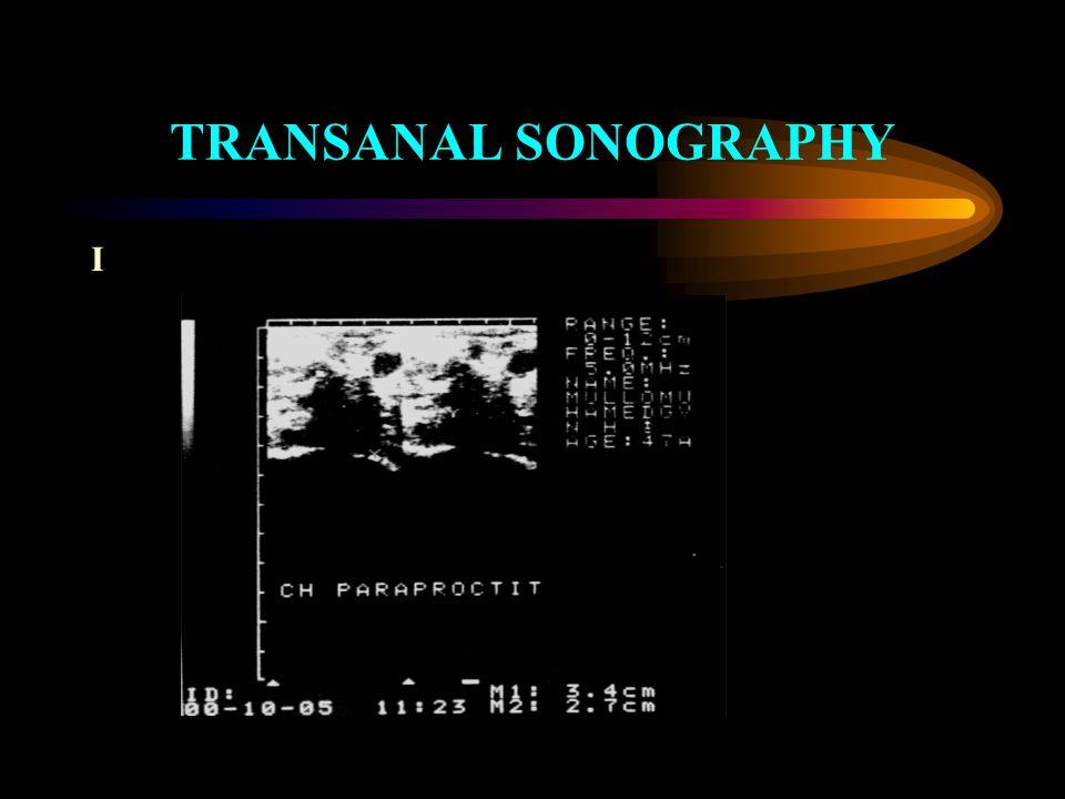 TRANSANAL SONOGRAPHY I