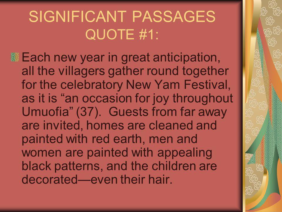 SIGNIFICANT PASSAGES QUOTE #1: