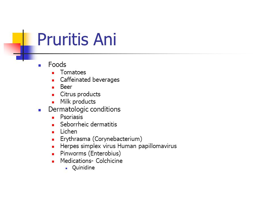 Pruritis Ani Foods Dermatologic conditions Tomatoes