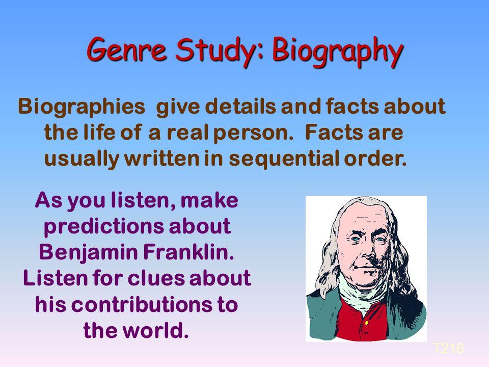 Genre Study: Biography
