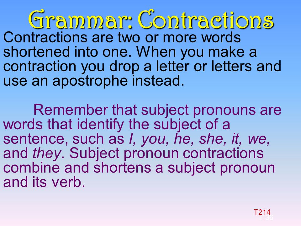 One Letter Apostrophe Words