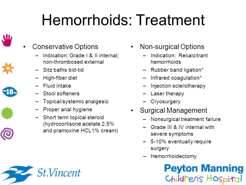 Hemorrhoids: Treatment