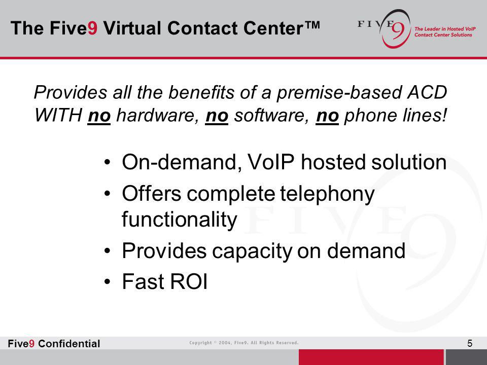 The Five9 Virtual Contact Center™