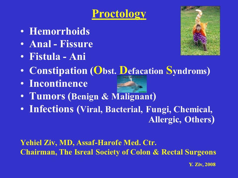 Proctology Hemorrhoids Anal - Fissure Fistula - Ani