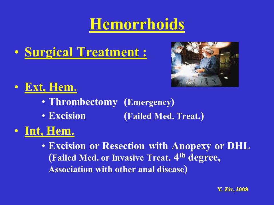 Hemorrhoids Surgical Treatment : Ext, Hem. Int, Hem.