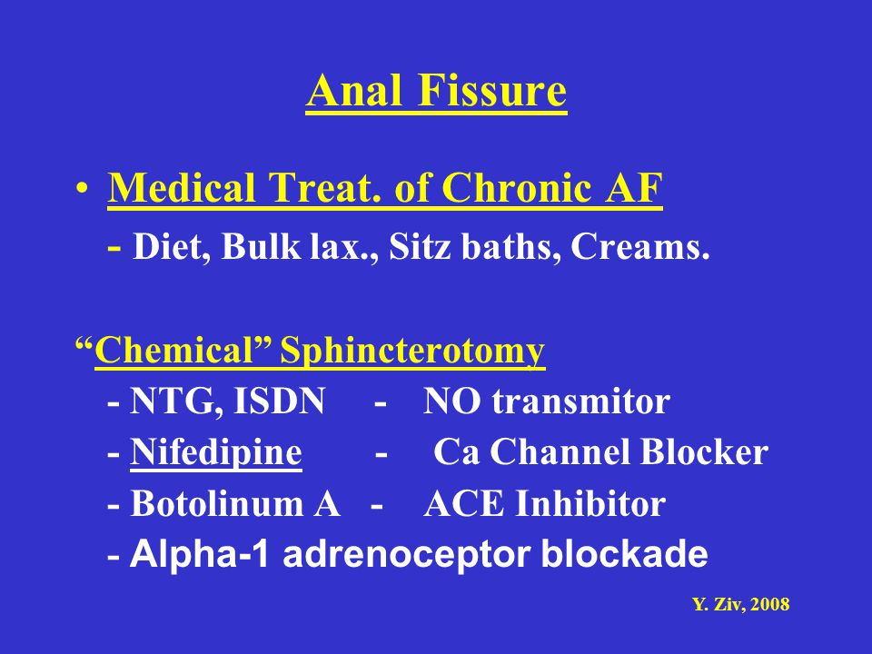 Anal Fissure Medical Treat. of Chronic AF