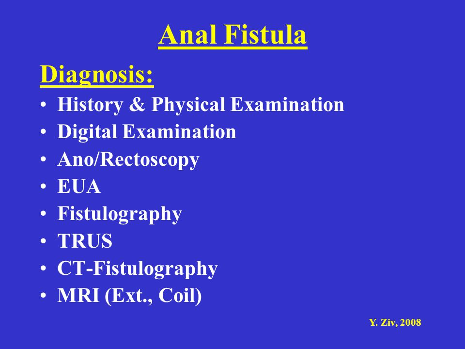 Anal Fistula Diagnosis: History & Physical Examination