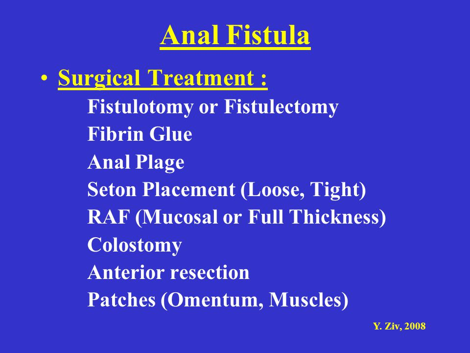 Anal Fistula Surgical Treatment : Fistulotomy or Fistulectomy