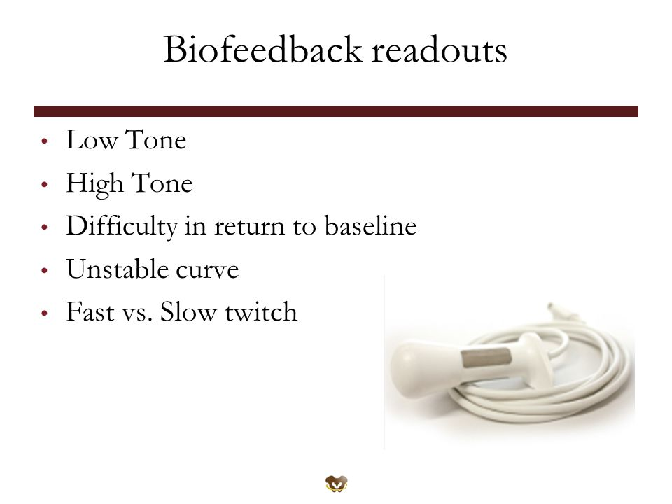 Biofeedback readouts Low Tone High Tone