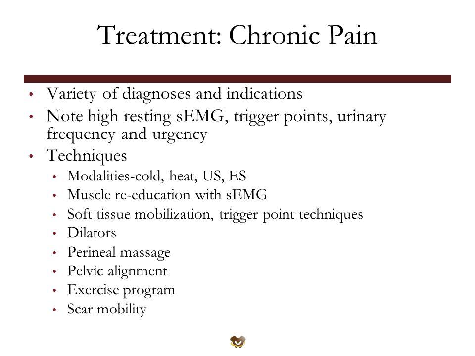 Treatment: Chronic Pain