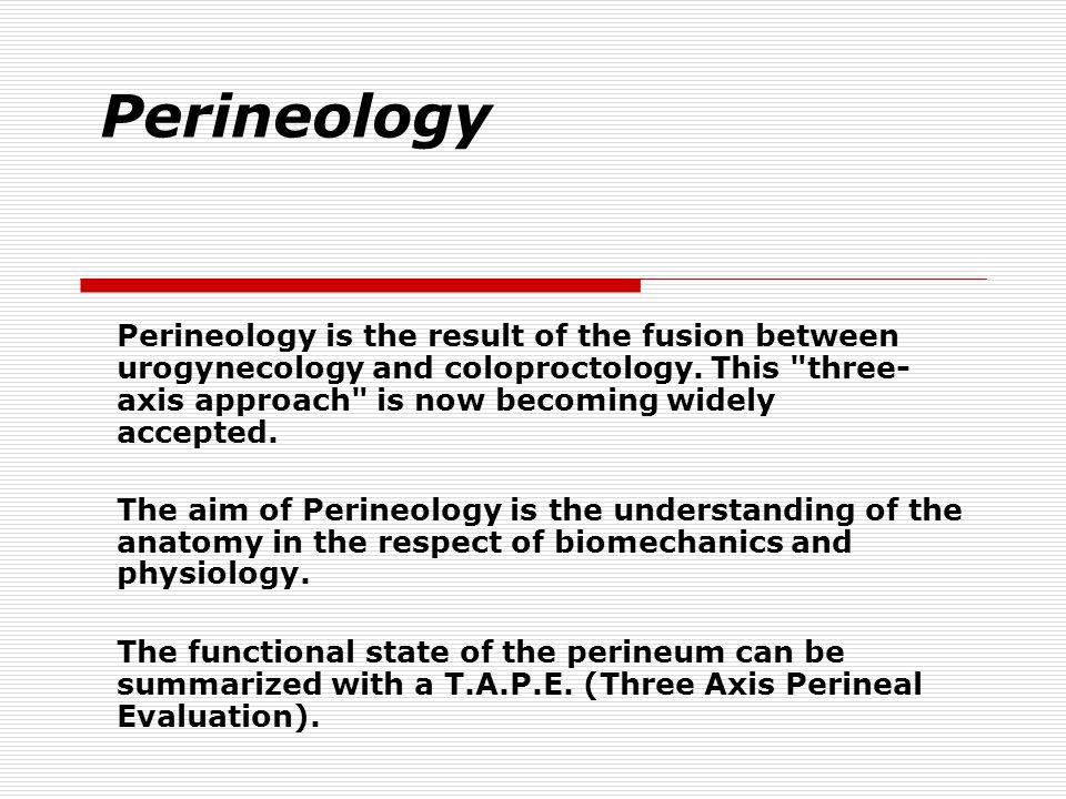 Perineology
