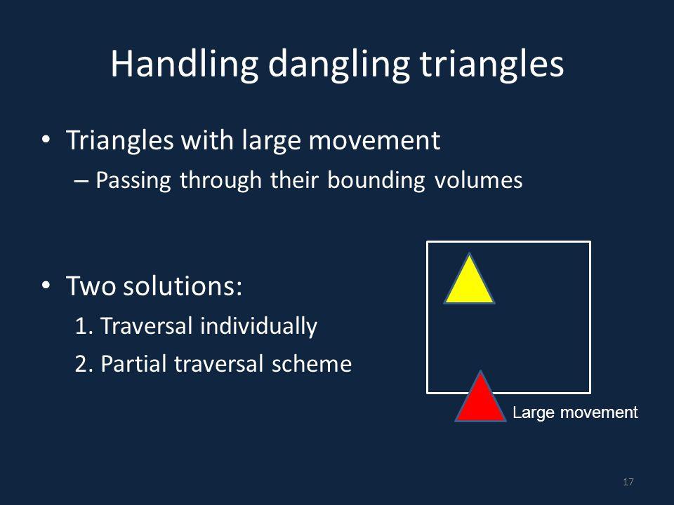 Handling dangling triangles