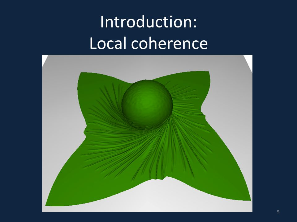 Introduction: Local coherence