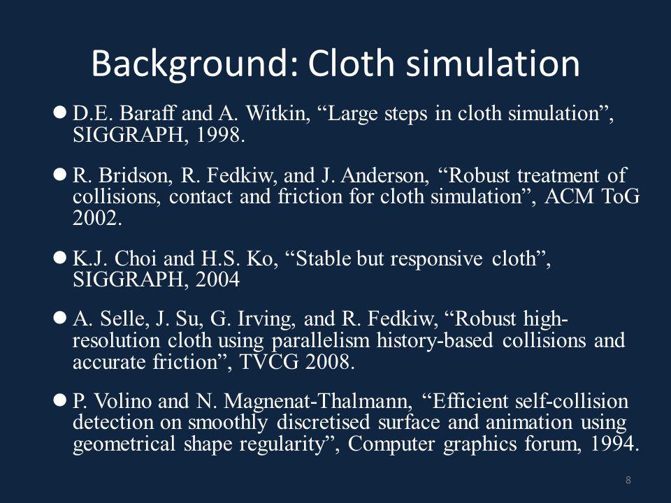 Background: Cloth simulation