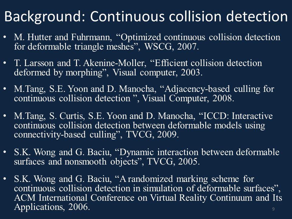 Background: Continuous collision detection