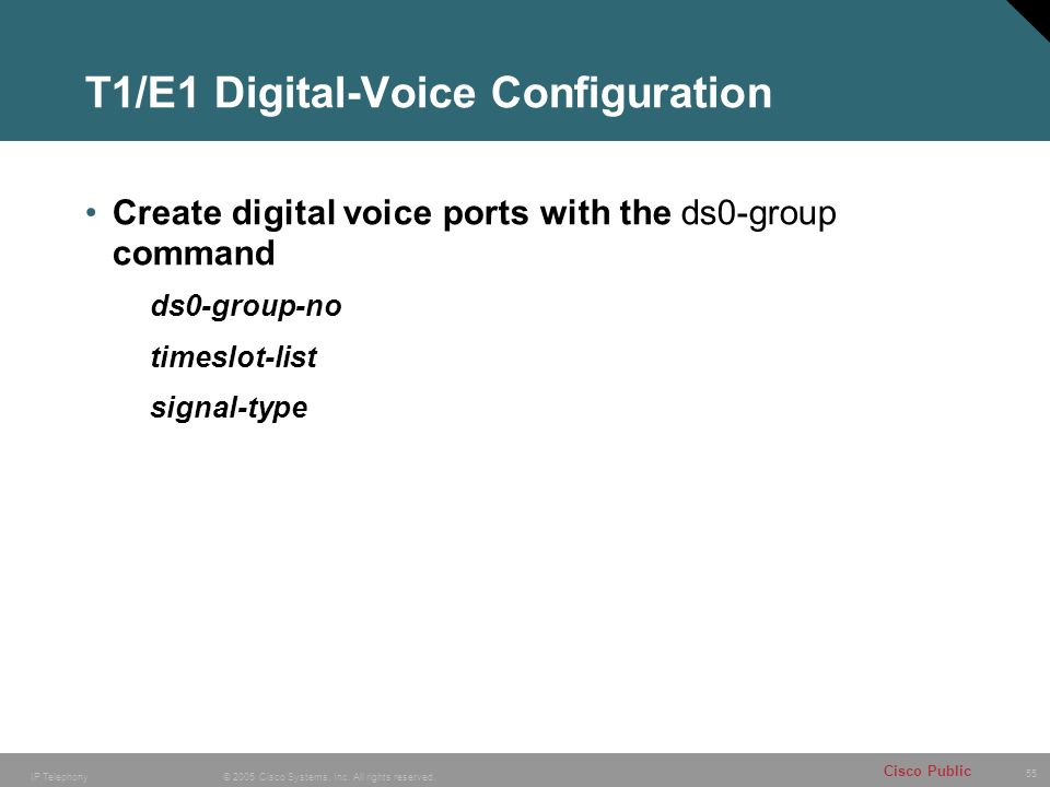 T1/E1 Digital-Voice Configuration