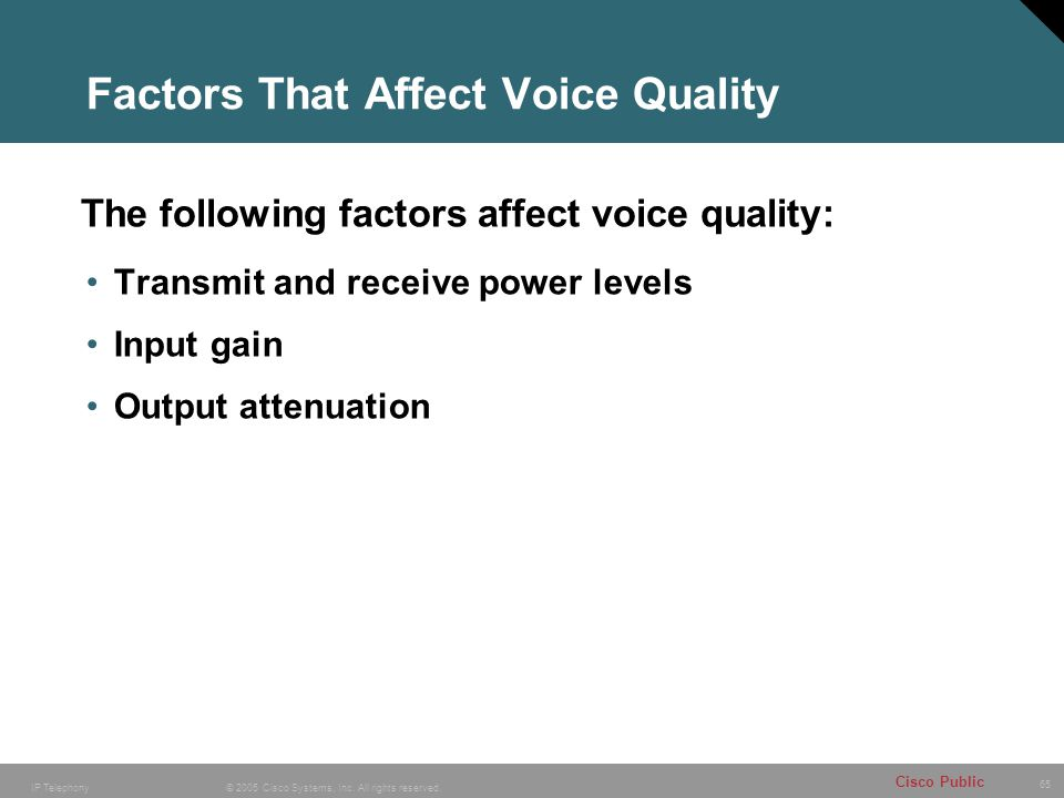 Factors That Affect Voice Quality