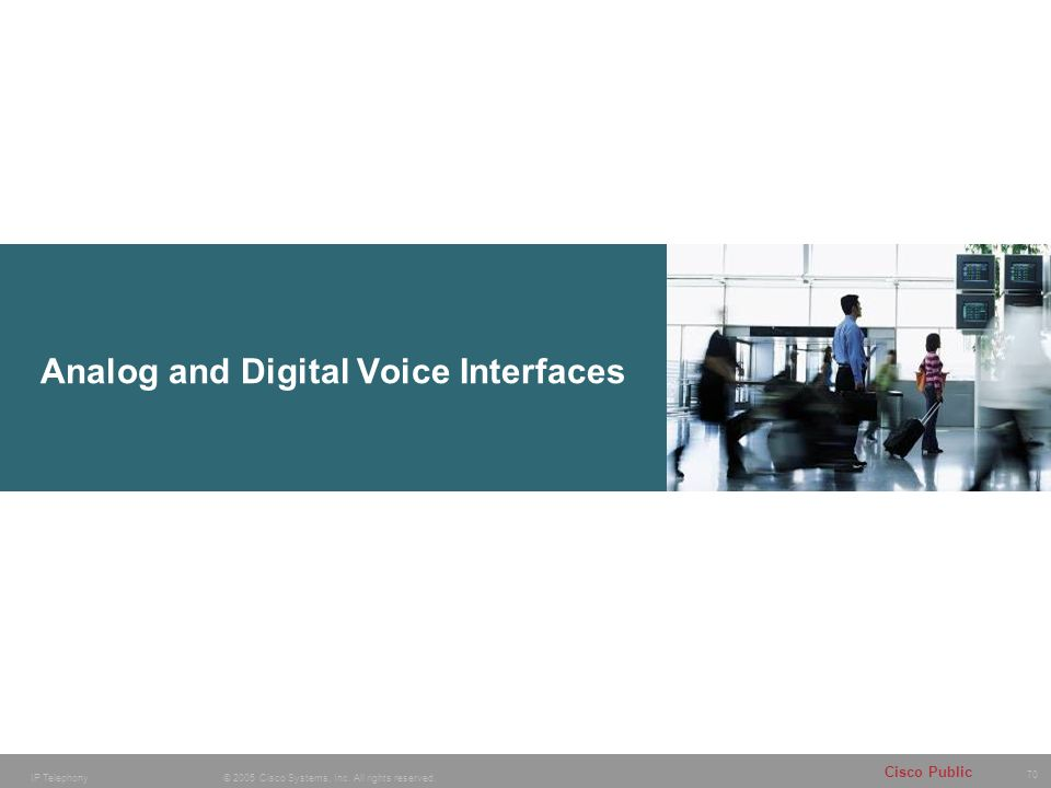 Analog and Digital Voice Interfaces