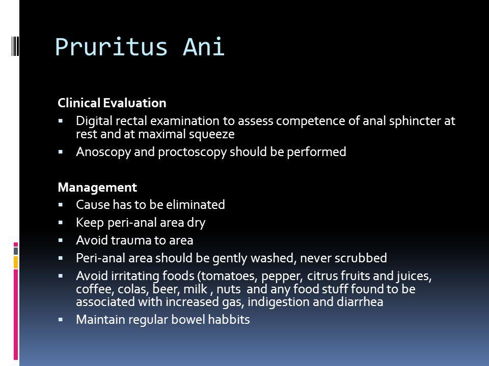 Pruritus Ani Clinical Evaluation