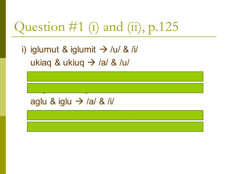 Question #1 (i) and (ii), p.125