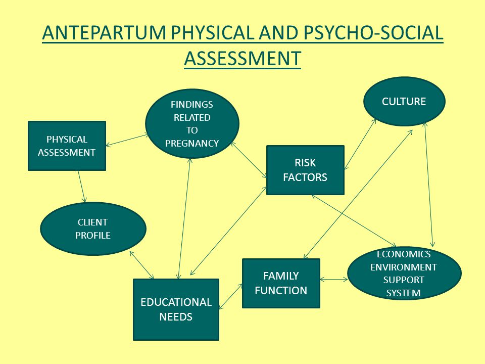 ANTEPARTUM PHYSICAL AND PSYCHO-SOCIAL ASSESSMENT