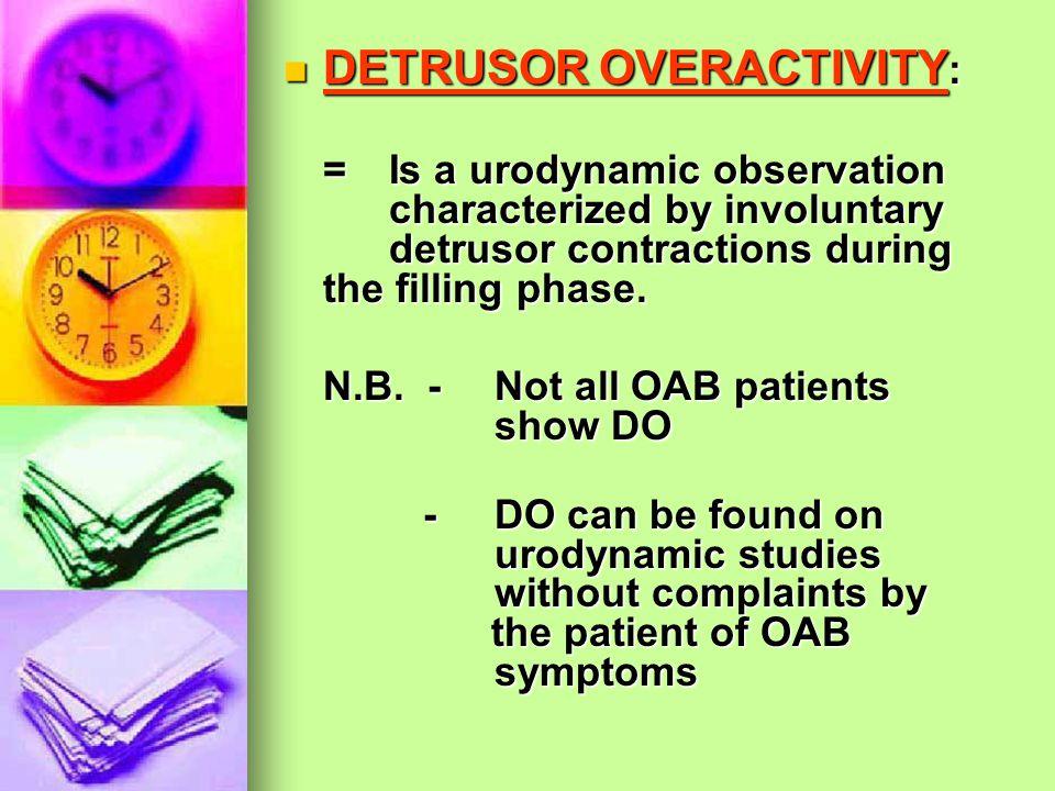 DETRUSOR OVERACTIVITY: