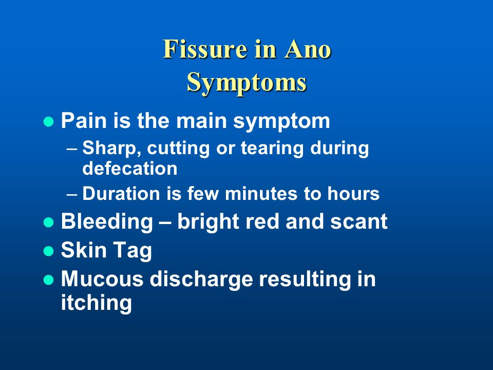 Fissure in Ano Symptoms