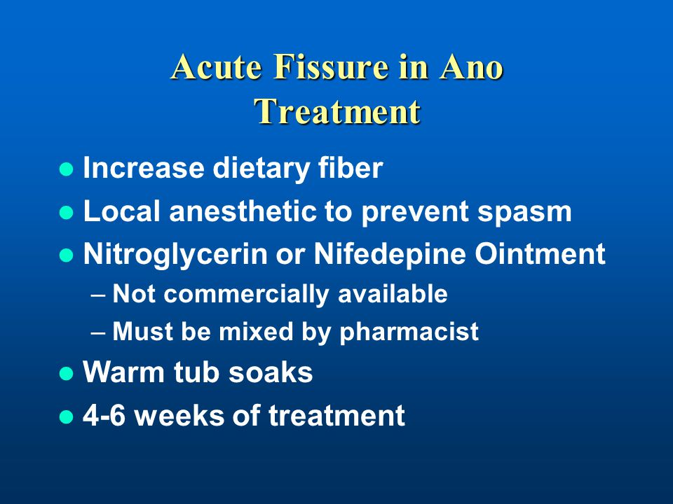 nitroglycerin ointment anal fissure treatment