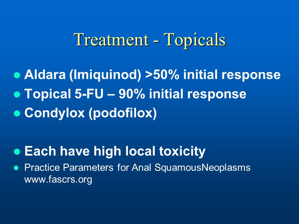 Treatment - Topicals Aldara (Imiquinod) >50% initial response