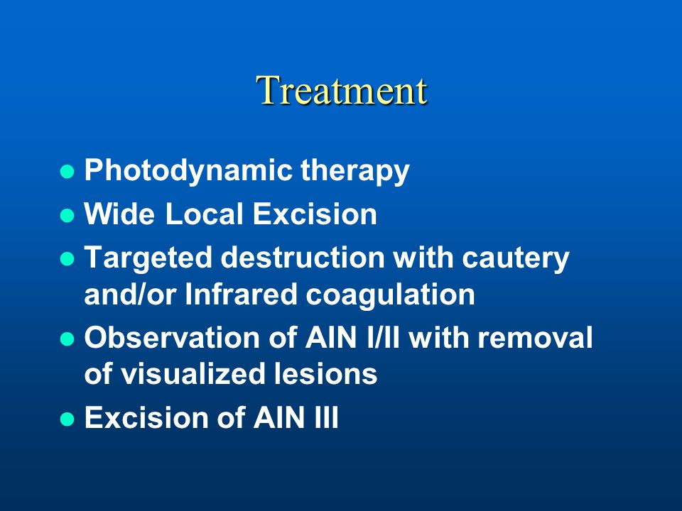 Treatment Photodynamic therapy Wide Local Excision