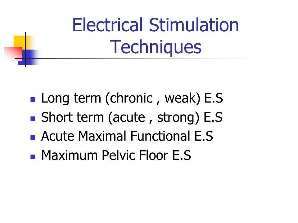 Electrical Stimulation Techniques