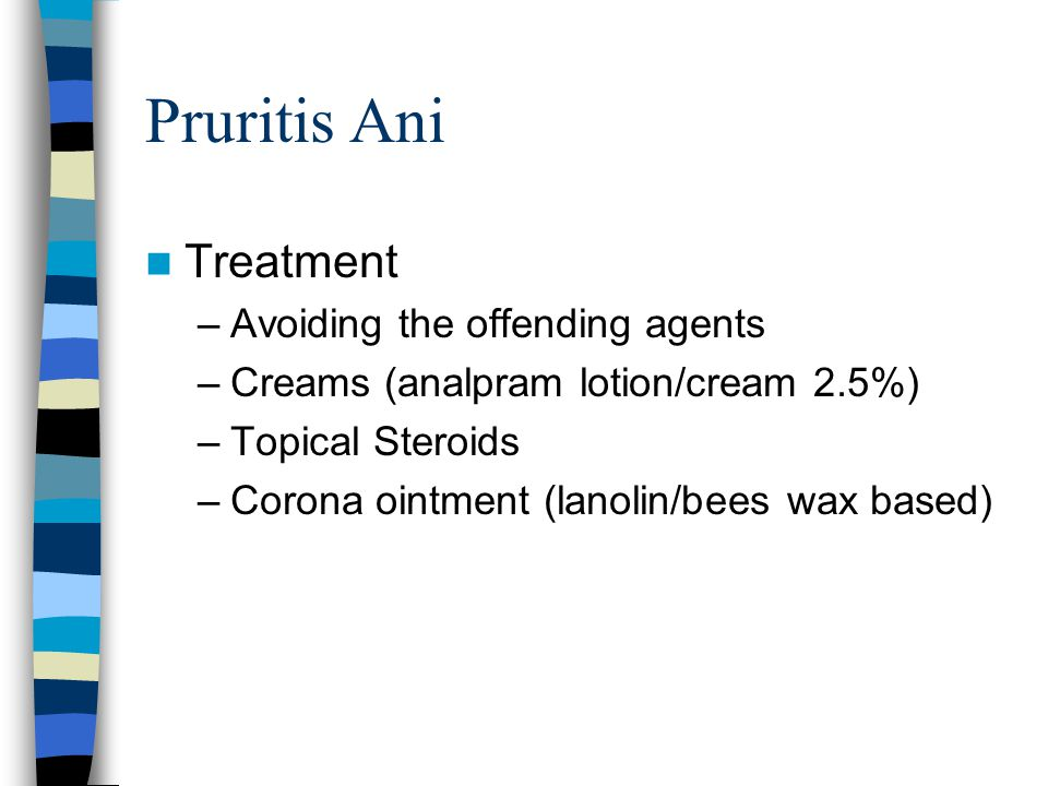 Pruritis Ani Treatment Avoiding the offending agents