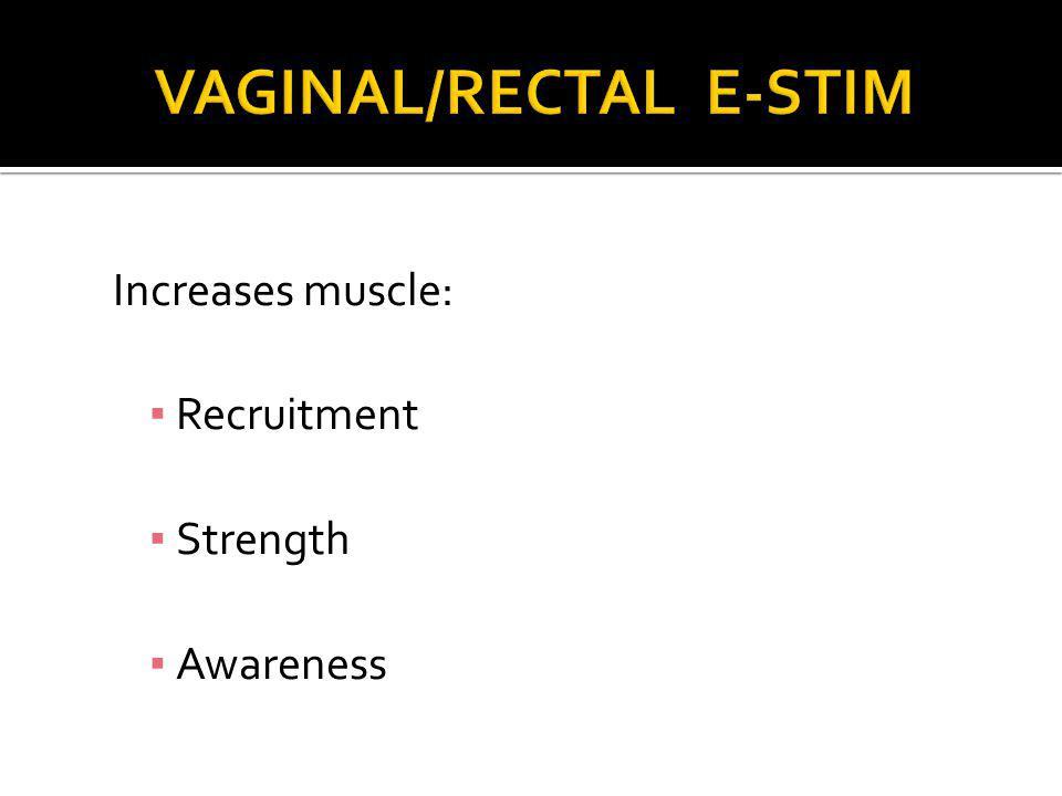 VAGINAL/RECTAL E-STIM