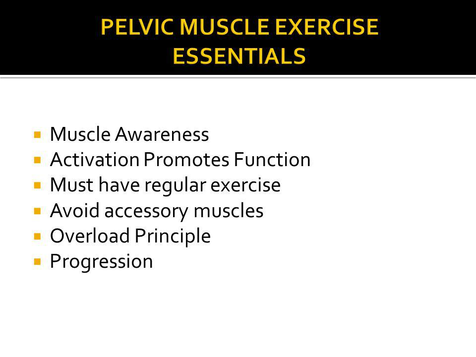 Pelvic Muscle Exercise Essentials