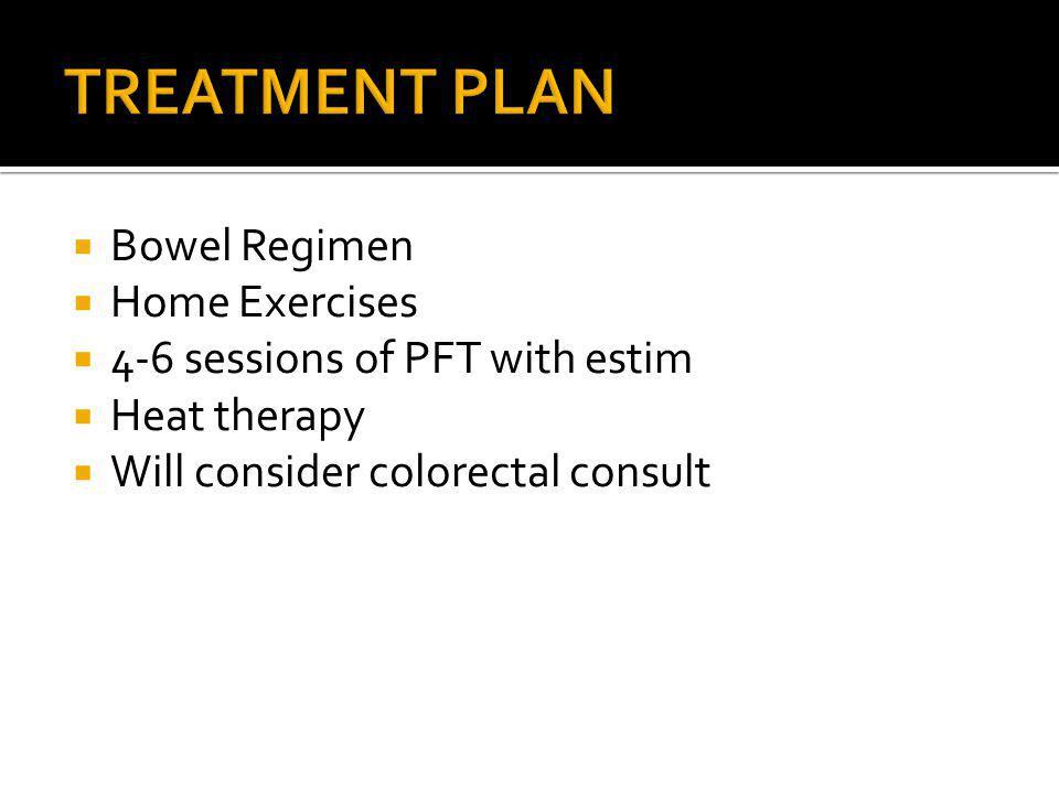 TREATMENT PLAN Bowel Regimen Home Exercises