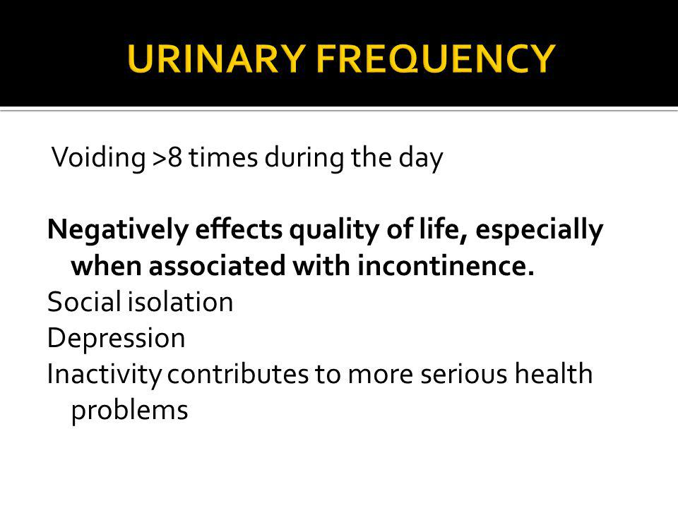 URINARY FREQUENCY