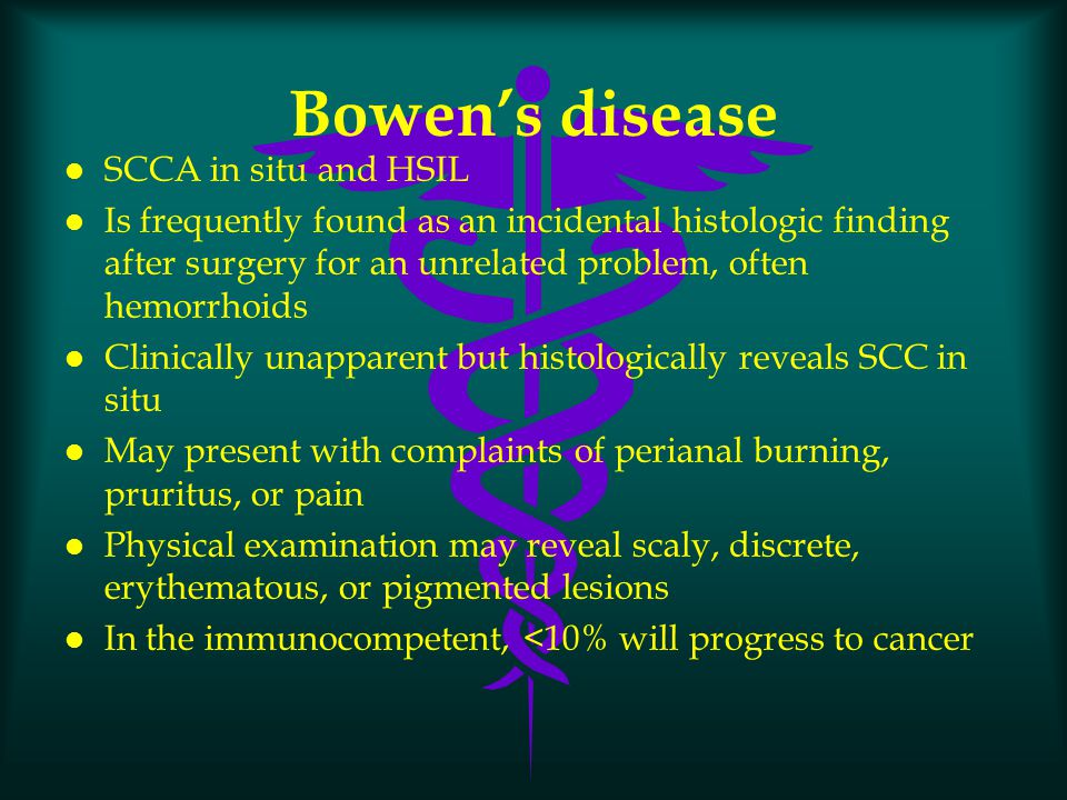 Bowen's disease SCCA in situ and HSIL
