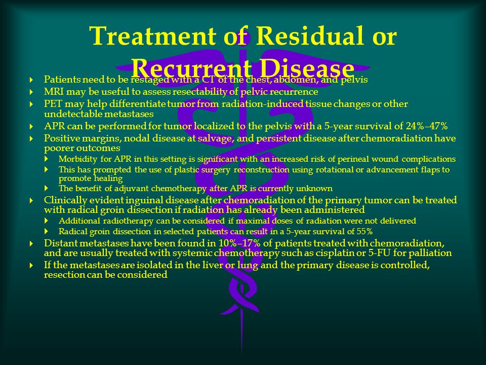 Treatment of Residual or Recurrent Disease