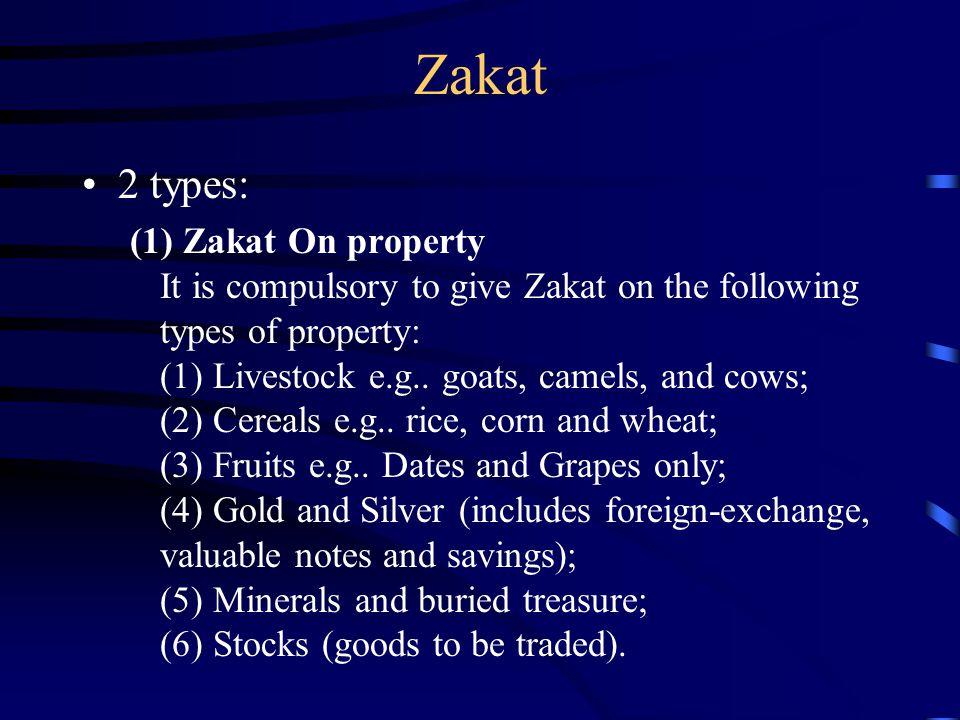Zakat 2 types:
