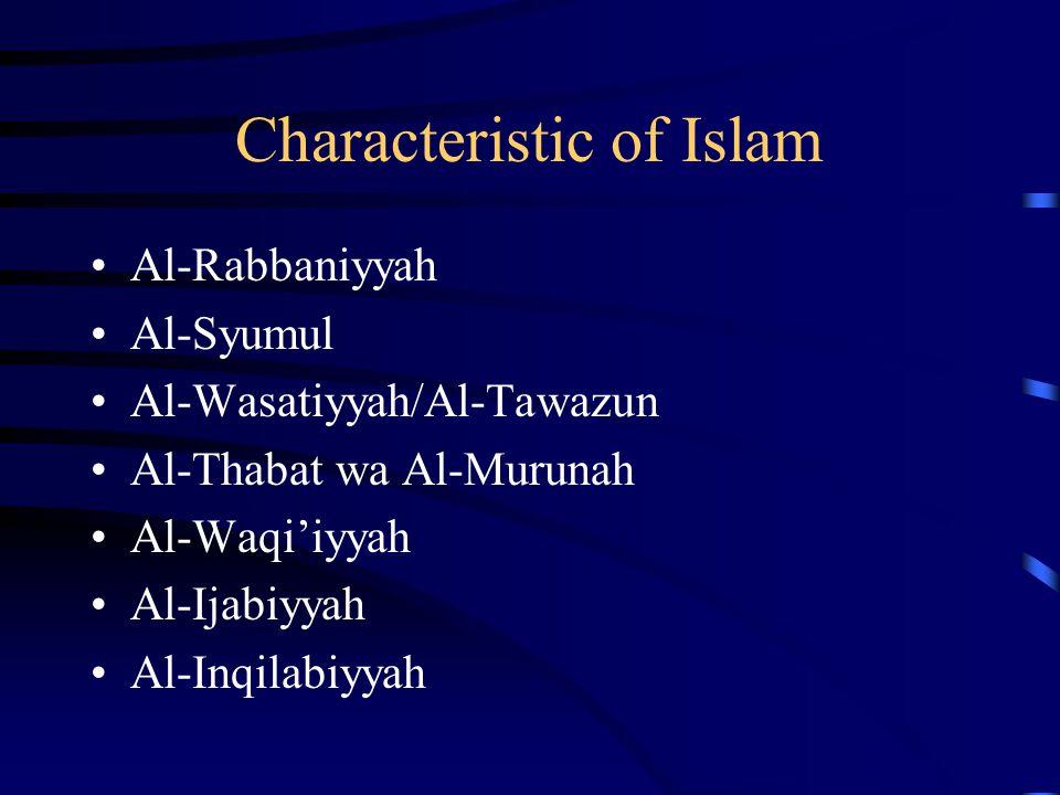 Characteristic of Islam