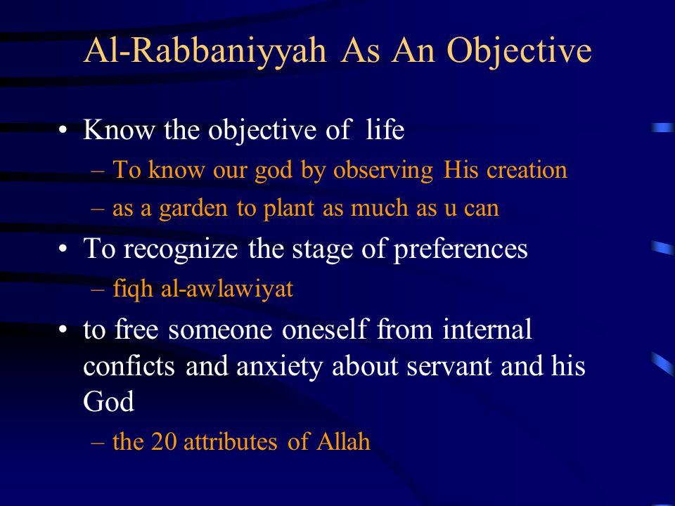 Al-Rabbaniyyah As An Objective