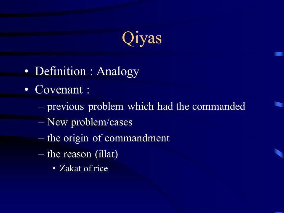 Qiyas Definition : Analogy Covenant :